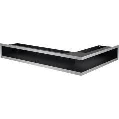 Вентиляционная решетка KRATKI LUFT нержавеющая сталь левая угловая 60x40x9