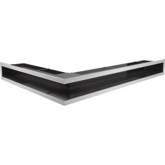 Вентиляционная решетка KRATKI LUFT нержавеющая сталь правая угловая 54,7x76,6x9