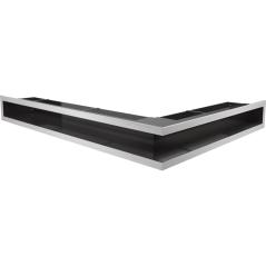 Вентиляционная решетка KRATKI LUFT нержавеющая сталь левая угловая 76,6x54,7x9