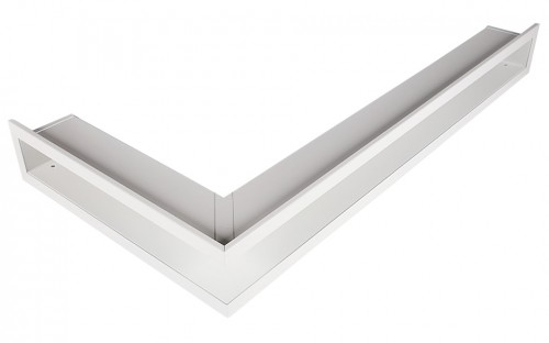 Вентиляционная решетка Открытая белая левая угловая 60х40х6 см