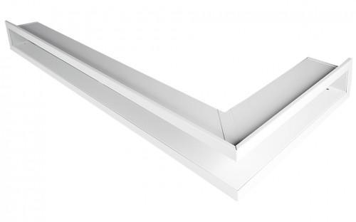 Вентиляционная решетка Открытая белая правая угловая 80х40х6 см