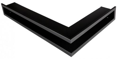 Вентиляционная решетка Открытая черная матовая правая угловая 60х40х6 см