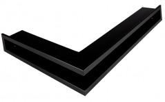 Вентиляционная решетка Открытая черная матовая левая угловая 60х40х6 см