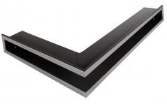 Вентиляционная решетка Открытая графит левая угловая 60х40х6 см