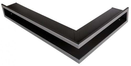 Вентиляционная решетка Открытая графит правая угловая 80х40х6 см