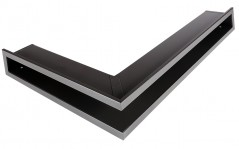 Вентиляционная решетка Открытая графит левая угловая 80х40х6 см