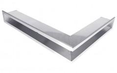 Вентиляционная решетка Открытая нержавейка правая угловая 60х40х6 см