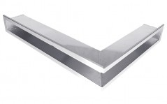 Вентиляционная решетка Открытая нержавейка правая угловая 80х40х6 см