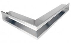 Вентиляционная решетка Открытая нержавейка левая угловая 80х40х6 см
