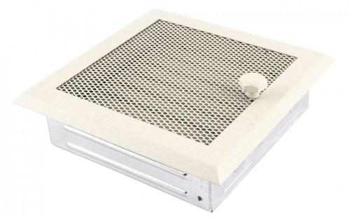 Вентиляционная решетка крем brokatowy 16х16 жалюзи