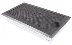 Вентиляционная решетка графит 16х32 жалюзи