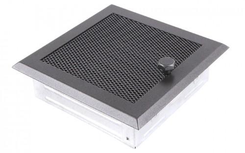 Вентиляционная решетка графит 16х16 жалюзи
