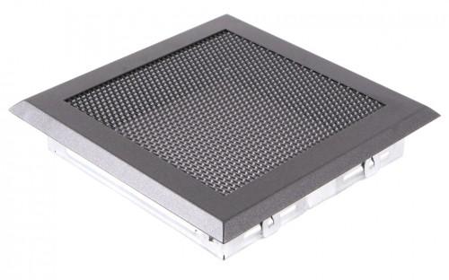 Вентиляционная решетка графит 16х16