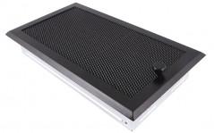 Вентиляционная решетка черная матовая 16х32 жалюзи