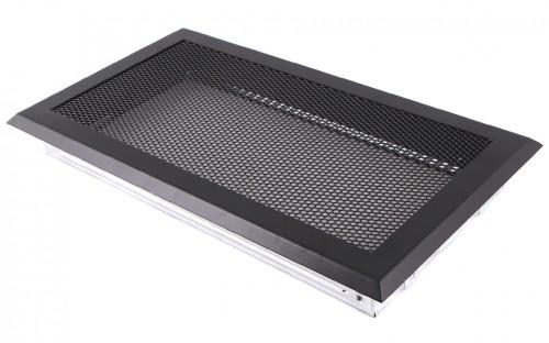 Вентиляционная решетка черная матовая 16х32
