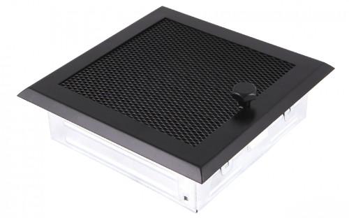 Вентиляционная решетка черная матовая 16х16 жалюзи
