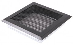 Вентиляционная решетка черная матовая 16х16