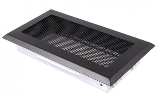 Вентиляционная решетка черная матовая 10х20