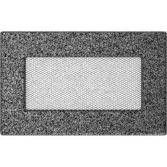 фото Вентиляционная решетка KRATKI черно-серебряная 11х17