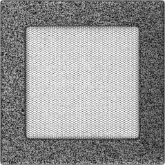 Вентиляционная решетка KRATKI черно-серебряная 17х17