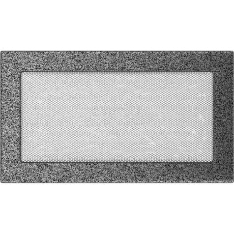 Вентиляционная решетка KRATKI черно-серебряная 17х30