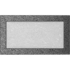 фото Вентиляционная решетка KRATKI черно-серебряная 17х30