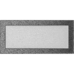 фото Вентиляционная решетка KRATKI черно-серебряная 17х37