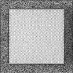 Вентиляционная решетка KRATKI черно-серебряная 22х22