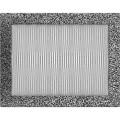 фото Вентиляционная решетка KRATKI черно-серебряная 22х30