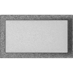фото Вентиляционная решетка KRATKI черно-серебряная 22х37
