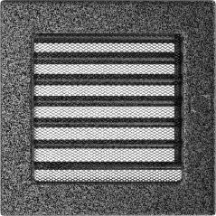 фото Вентиляционная решетка KRATKI черно-серебряная 17х17 жалюзи