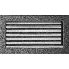 фото Вентиляционная решетка KRATKI черно-серебряная 17х30 жалюзи