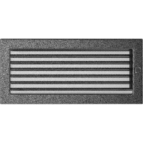 Вентиляционная решетка KRATKI черно-серебряная 17х37 жалюзи