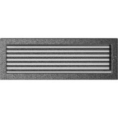 фото Вентиляционная решетка KRATKI черно-серебряная 17х49 жалюзи