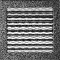 фото Вентиляционная решетка KRATKI черно-серебряная 22х22 жалюзи
