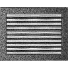 фото Вентиляционная решетка KRATKI черно-серебряная 22х30 жалюзи