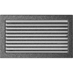 фото Вентиляционная решетка KRATKI черно-серебряная 22х37 жалюзи