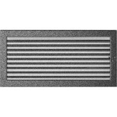 фото Вентиляционная решетка KRATKI черно-серебряная 22х45 жалюзи