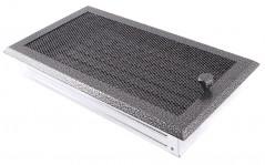 Вентиляционная решетка старое серебро 16х32 жалюзи
