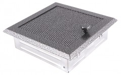 фото Вентиляционная решетка старое серебро 16х16 жалюзи