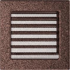 Вентиляционная решетка KRATKI медная 17х17 жалюзи