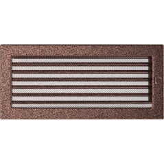 Вентиляционная решетка KRATKI медная 17х37 жалюзи