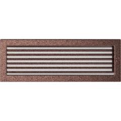 Вентиляционная решетка KRATKI медная 17х49 жалюзи