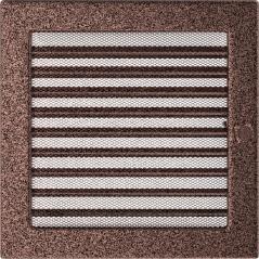 Вентиляционная решетка KRATKI медная 22х22 жалюзи