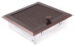 Вентиляционная решетка старая медь 16х16 жалюзи