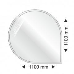 Круглая угловая стеклянная основа 1100x1100mm