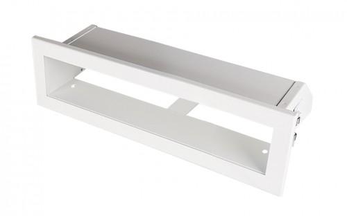 Решетка Открытая белая 20х6 см