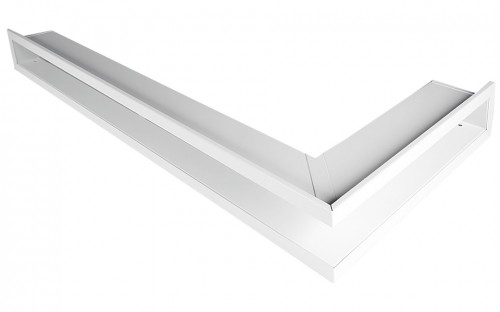 Решетка Открытая белая правая угловая 80х40х6 см