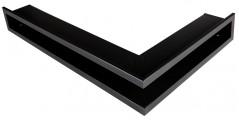 Решетка Открытая черная матовая правая угловая 80х40х6 см