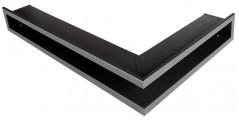 Решетка Открытая графит правая угловая 60х40х6 см